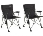Outwell Campo Camping Chair Black (Twin Pack)